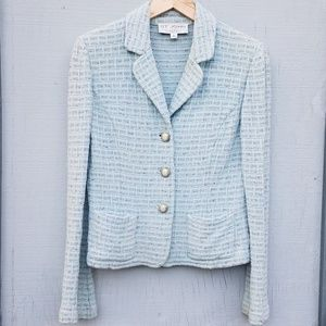 St. John | Blazer Triple Button Light Blue